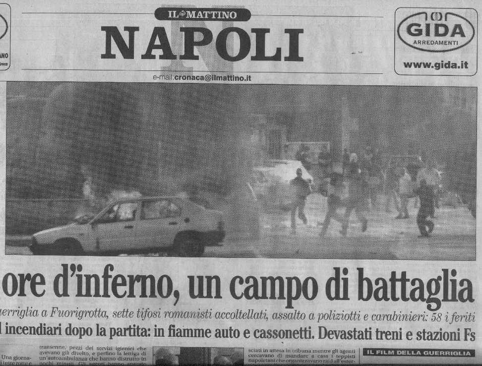 0001napoliroma3 for Il mattino di napoli cronaca