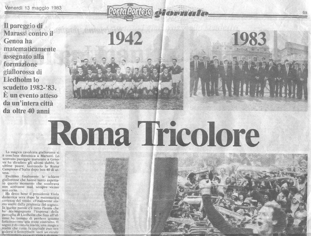 1983 - Porta portese sud ...