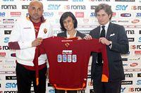 Da www.asroma.it, la maglia sponsorizzata per                   Roma/Milan