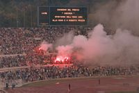 1980/81 Roma/Cagliari, Curva Nord, Yellow Red Wolves